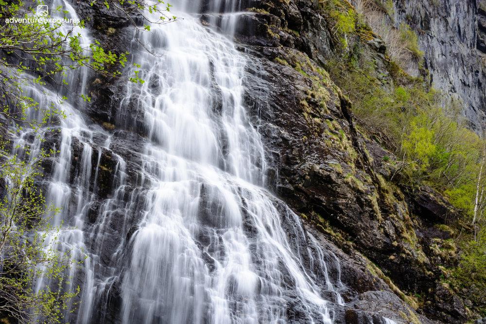 Brekkefossen waterfall,Flåm, Norway
