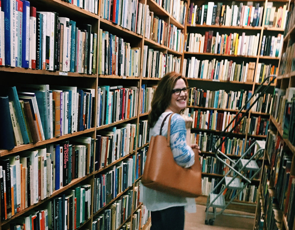 shoutout the fact that this blurry thang is the only books photo I had but that's ok because it features my adorable mom