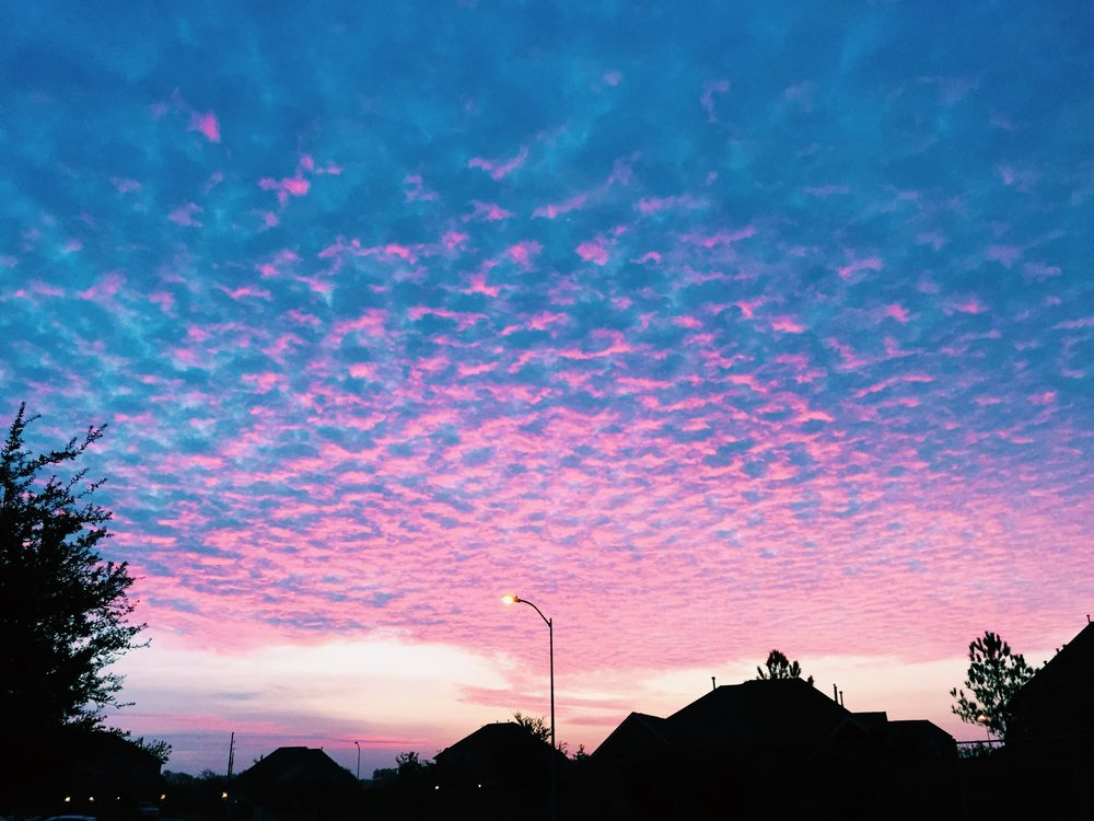 shoutout the sky for skyin' even in the suburbs