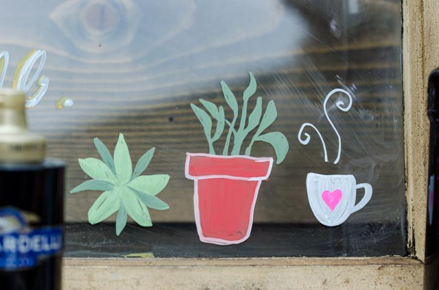 Chalk Paint Windows