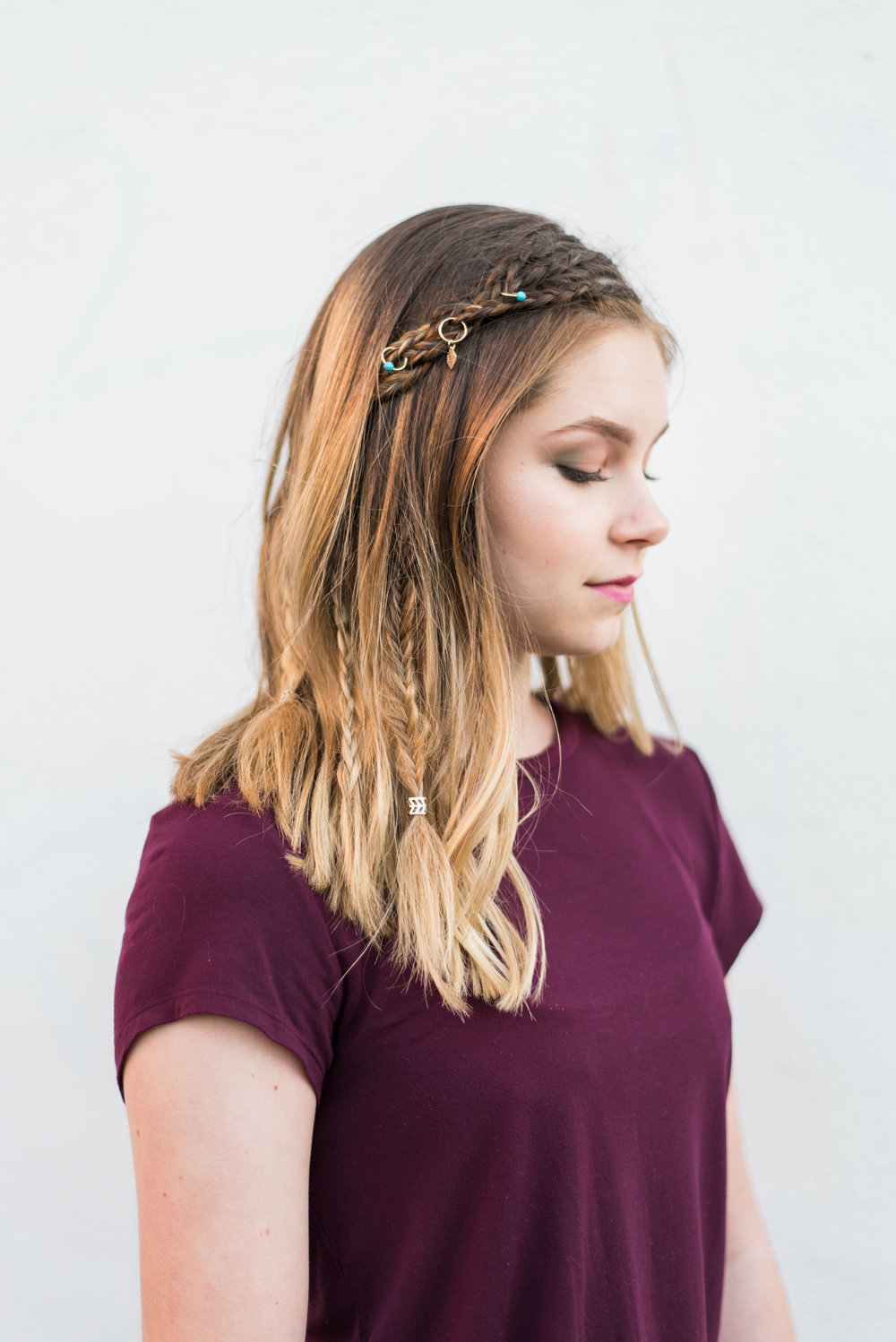 Boho summer braids tutorial