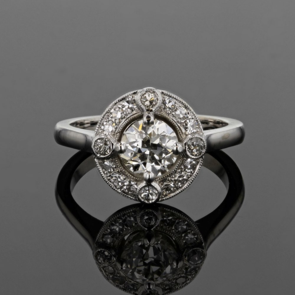 Estate Diamond Compass Ring