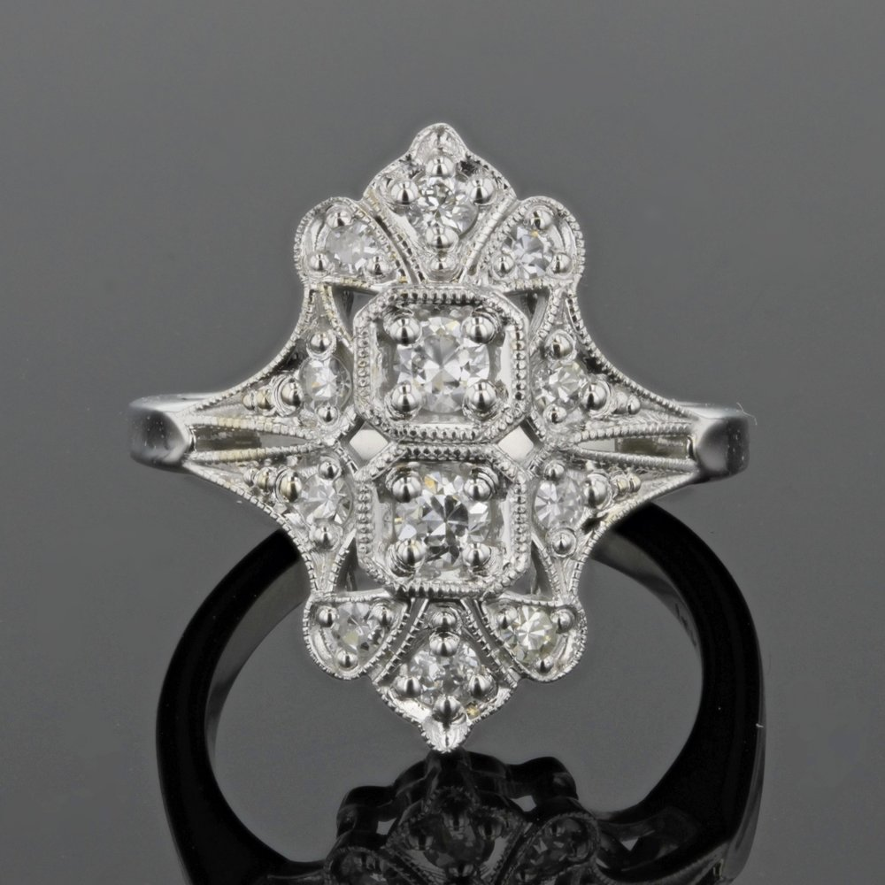 Elongated Custom Estate Ring