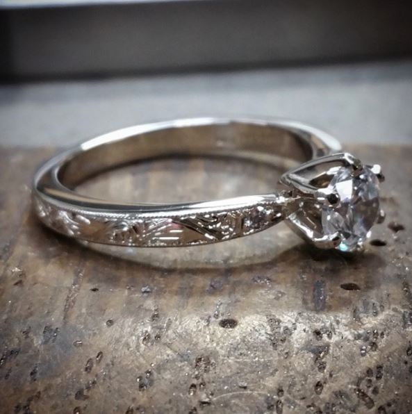 platinum custom engagement ring