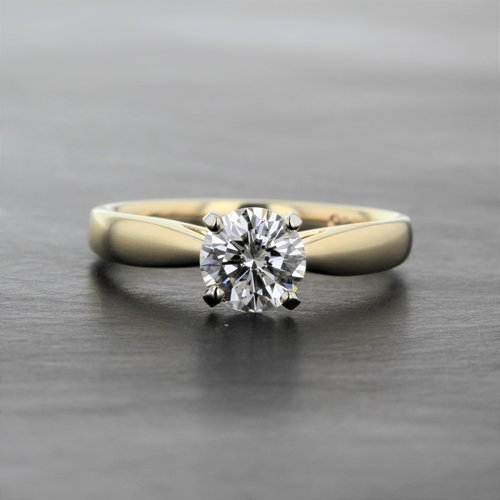 a029c07ab9d 1ct Diamond Yellow Gold Solitaire Engagement Ring — Kizer Cummings ...