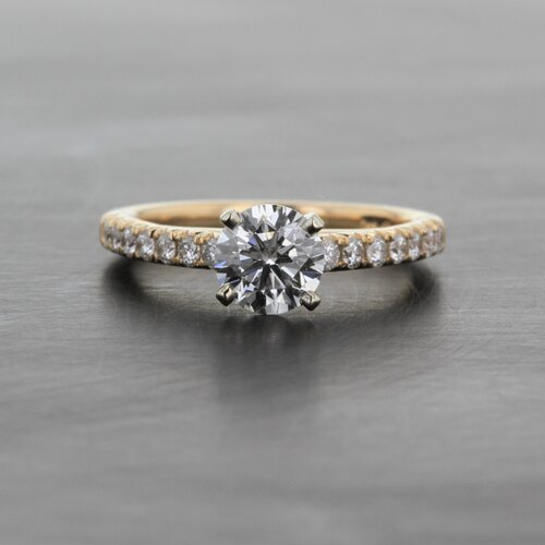 8f4ea541379 Yellow Gold Diamond Solitaire Engagement Ring — Kizer Cummings Jewelers