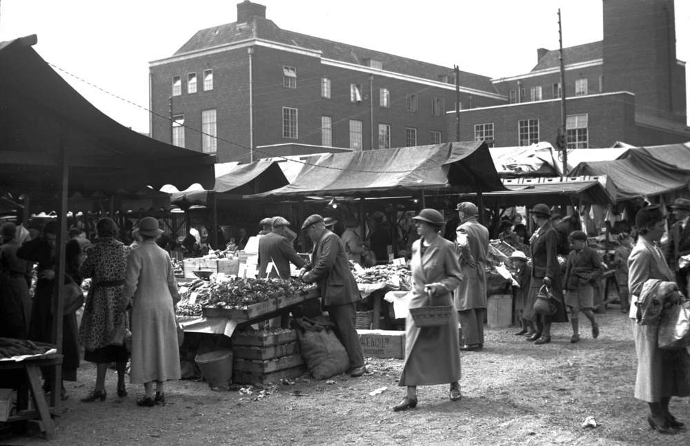The Temporary Market Hall City Sandpit 1938
