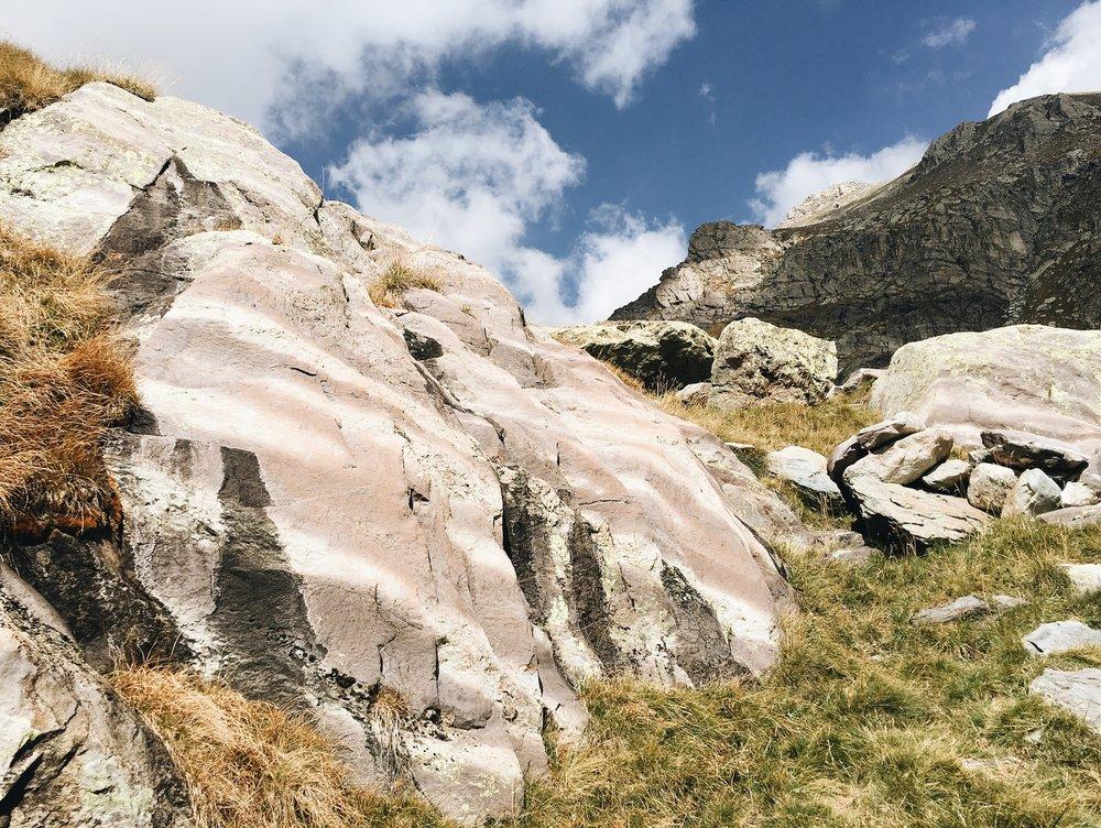 Stripey boulders