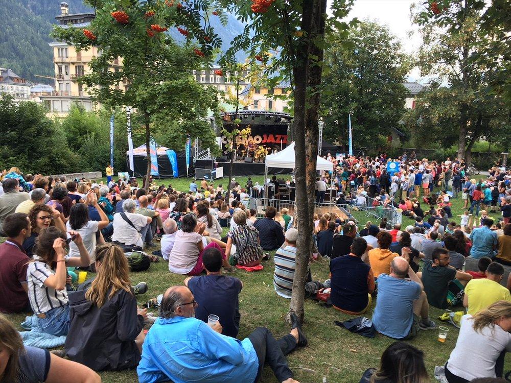 cosmo jazz festival, vanlife, Chamonix