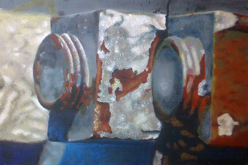 "Nuts & Bolts #6 | H. 9"" W. 13"" 