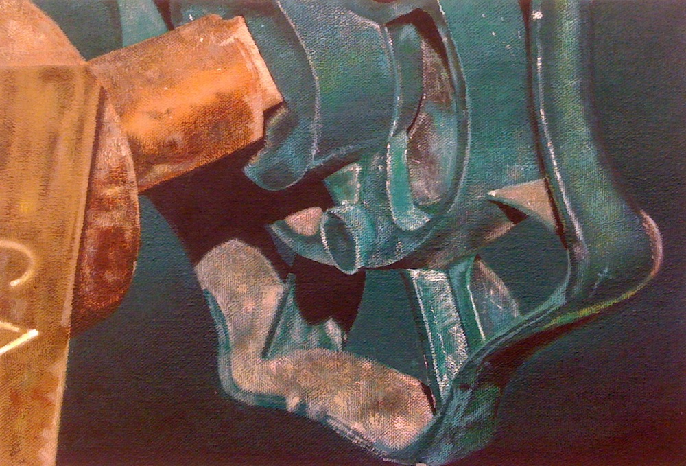 "Green Valve| H. 9"" W. 13"" 