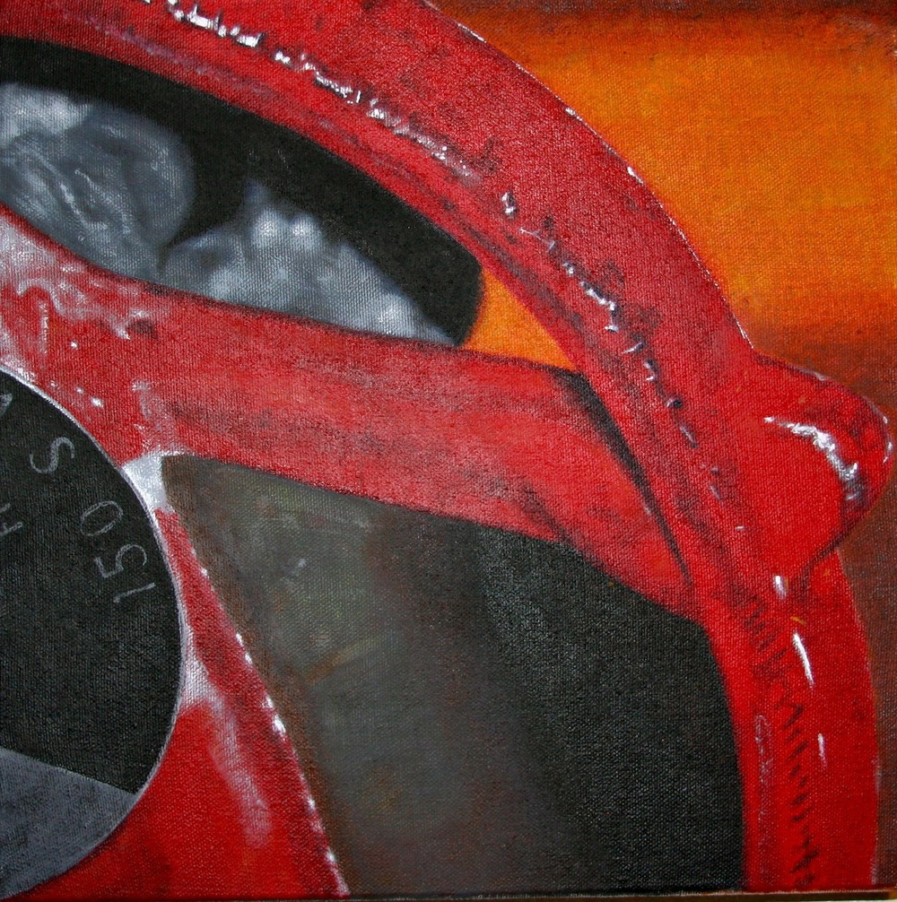 "Red Valve | H. 16"" W. 16"" 