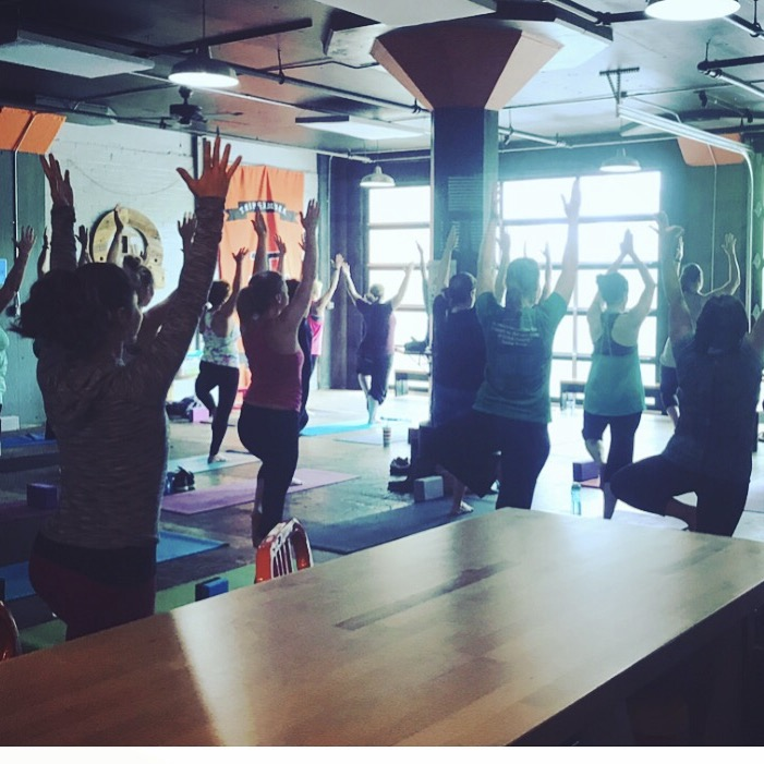 $15 - includes the class and a pint of your choice  Bring your own yoga mats, water bottles  Beginners welcome  Must be 21 to attend  SPACE IS LIMITED so please register via email by contacting: jody@triphammerbierwerks.com