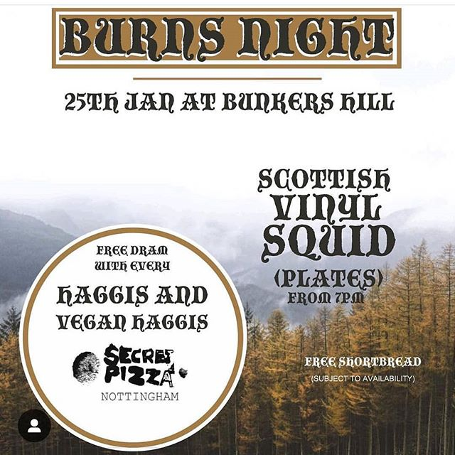 Bringing out my Scottish heritage for this one tonight - might even wear a kilt 🏴󠁧󠁢󠁳󠁣󠁴󠁿 Come and mock me whilst I stuff haggis pizza down me gob and play music from Belle and Sebastian, Aztec Camera, The Jesus and Mary Chain, Boards of Canada, Cocteau Twins and of course...other traditional Scottish classics from the streets of Glasgae ❗