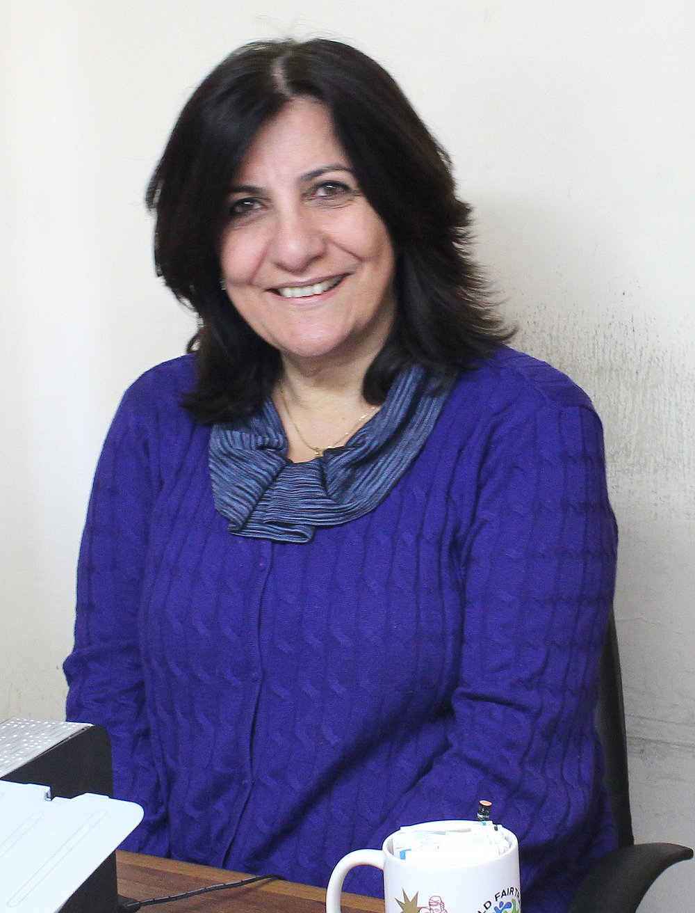Basma Barham with Holy Land Handicraft Cooperative Society