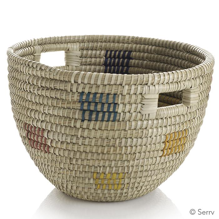 Fair Squares Bucket Basket