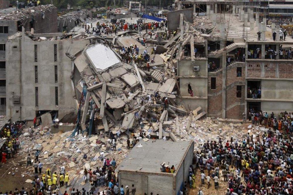 Photo source: rijans (Flickr: Dhaka Savar Building Collapse), via Wikimedia Commons