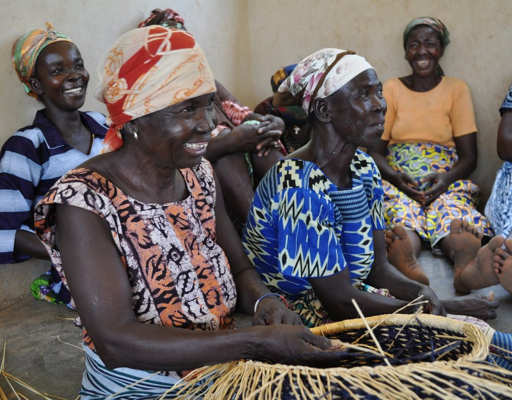 In Ghana: The weavers who make our gorgeous Bolgatanga baskets now have access to straw year-round thanks to a donation from Serrv and Catholic Relief Services.