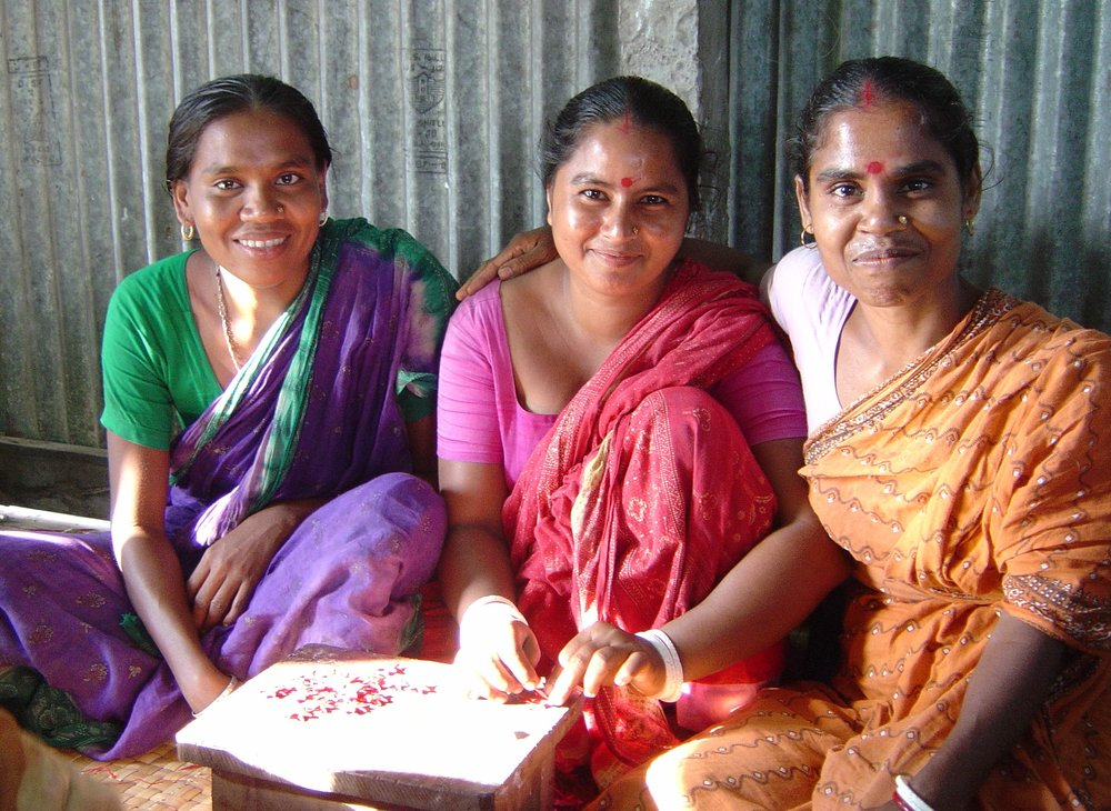 In Bangladesh: In a country where half the population lives in poverty, Serrv partner Prokritee provides fair wages, training, and design assistance for widows, single mothers, and heads-of-household with little to no other income.