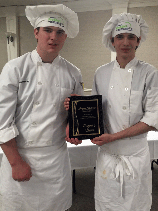 Gladwin CTE students Brendan Armstrong and Ryan OLaughlin