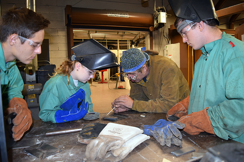 Welding Technology is once again available for CTE students.