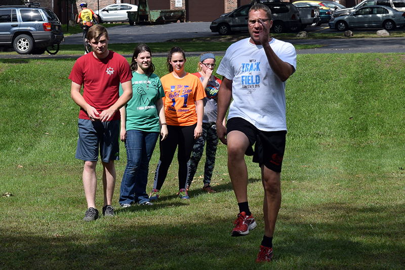Physical Training is a constant in Instructor Jeff Erickson's Criminal Justice class.