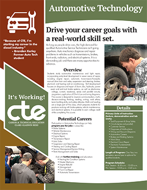 Everything you want to know about CTE's Automotive Technology program in one document.