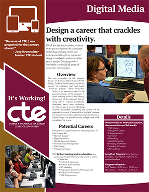 Everything you want to know about CTE's Digital Media program in one document.