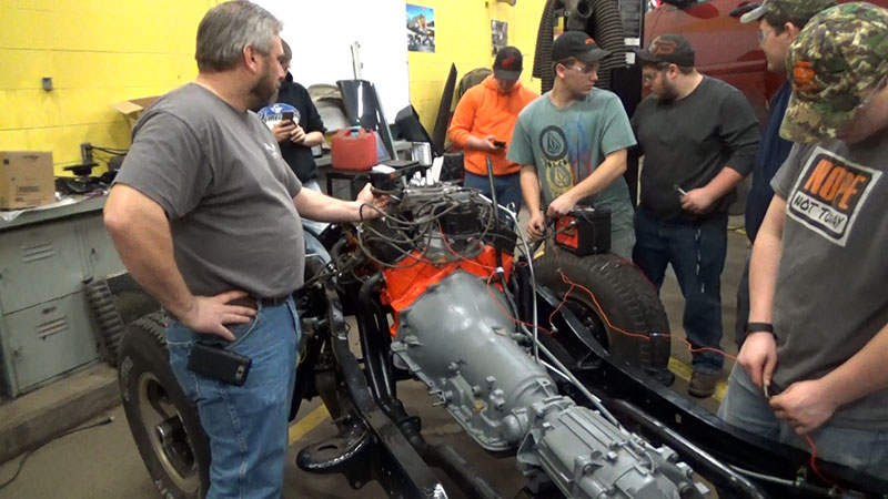 Rich Hollister's CTE Auto Tech class is restoring an '86 Chevy K10 to like-new condition.The project will take the entire school year to complete.