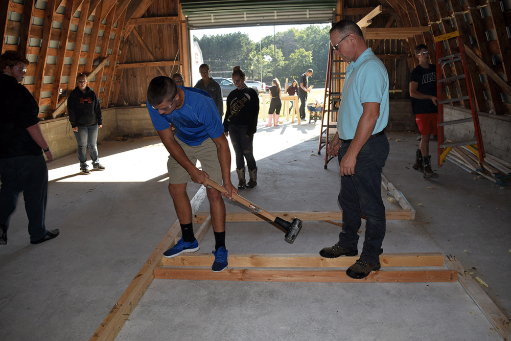 Repurposing a barn on the Magnus Center property is one of the first priorities for Ag-Science students.