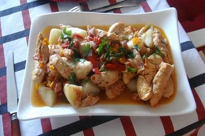 Chicken Basquaise