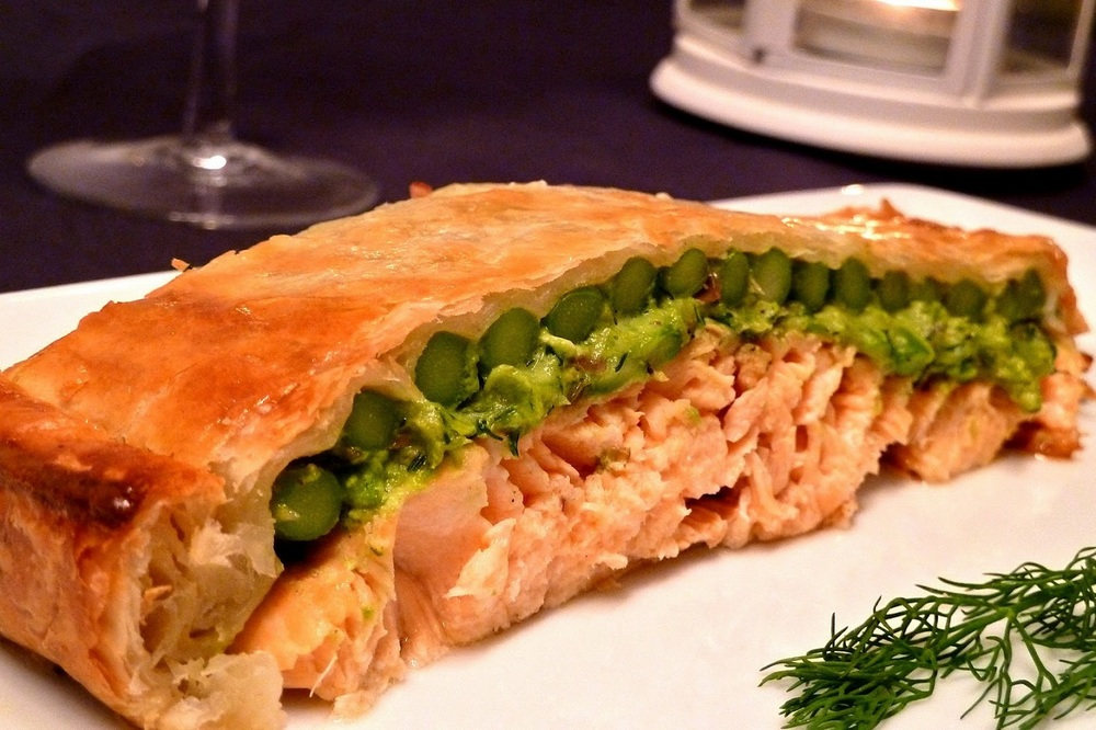 Salmon in Crust