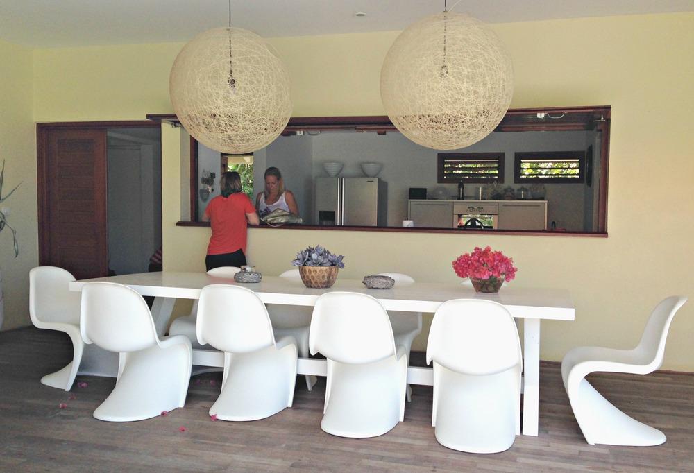 Curacao Villa Las Olas Dining Room