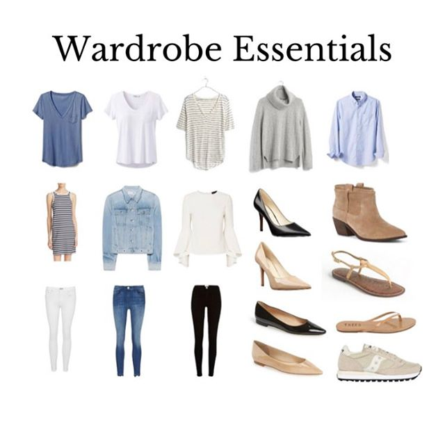 Sharing my favorite wardrobe essentials on the blog today! 👚 👖👡👢👟 . . . . . . #wardrobeessentials #closetstaples #fashionblog #magicalartoftidyingup #konmari #konmarilife #doesitbringyoujoy #konmariallthethings #konmaristyle #capsulewardrobe #minimalistwardrobe #frenchwardrobe