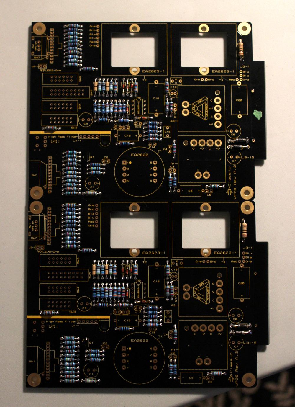 Resistors, diodes, transistors in