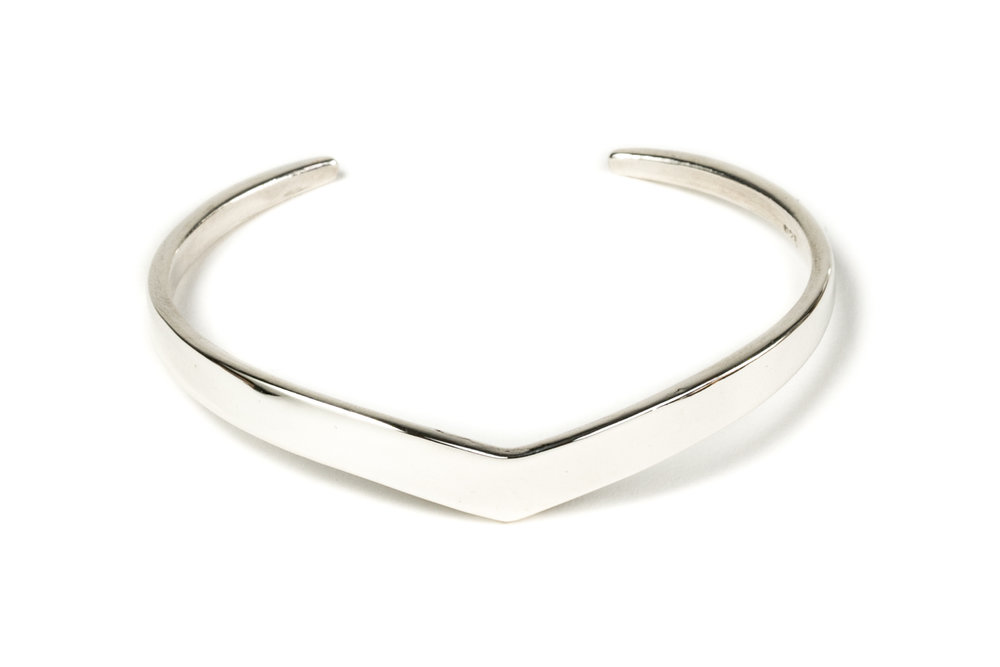 Peak Cuff Bracelet in Sterling Silver