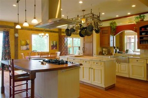 Double Kitchen Island in Cape Cod Home Remodeling