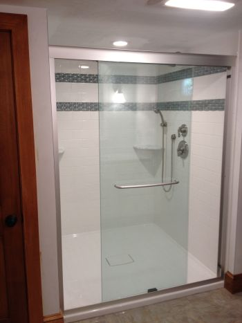 Falmouth Bathroom Remodeling with Custom Shower - @designREMODEL