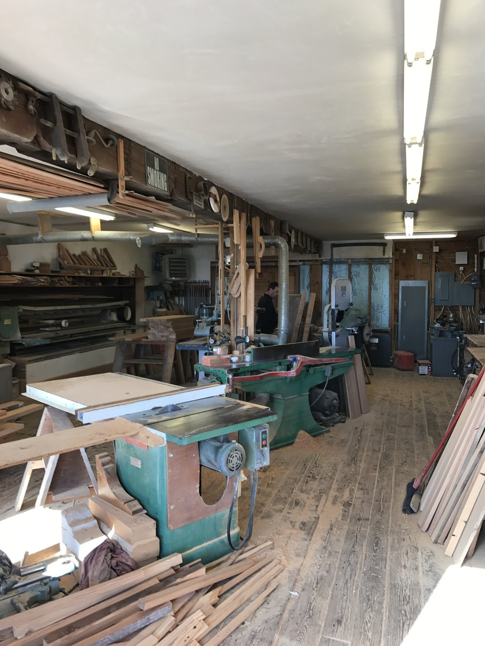 Wood shop at Cataumet Sawmill.