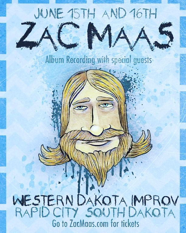 I am excited to announce I will be recording my first album this summer in my home town of Rapid City, South Dakota at the Western Dakota Improv. Thanks to @turdtoucher for the poster!