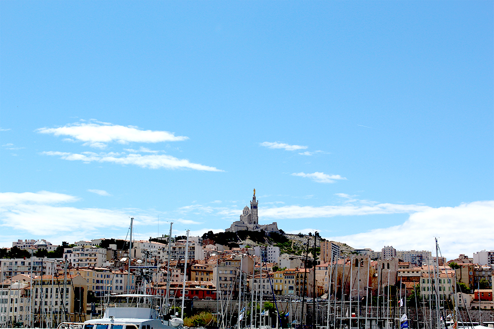 View of Notre Dame de la Garde church, Photo by Katie Askew