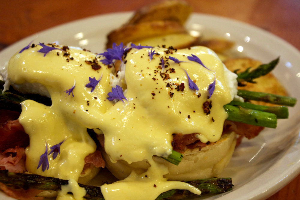 Eggs Benedict at Birchwood Cafe. Photo by Anne Lies