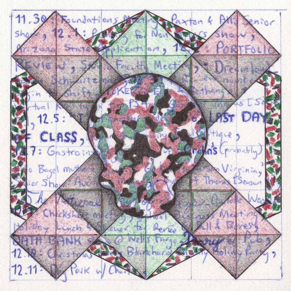 Quilt Square _ 41 (Christmas Camo)