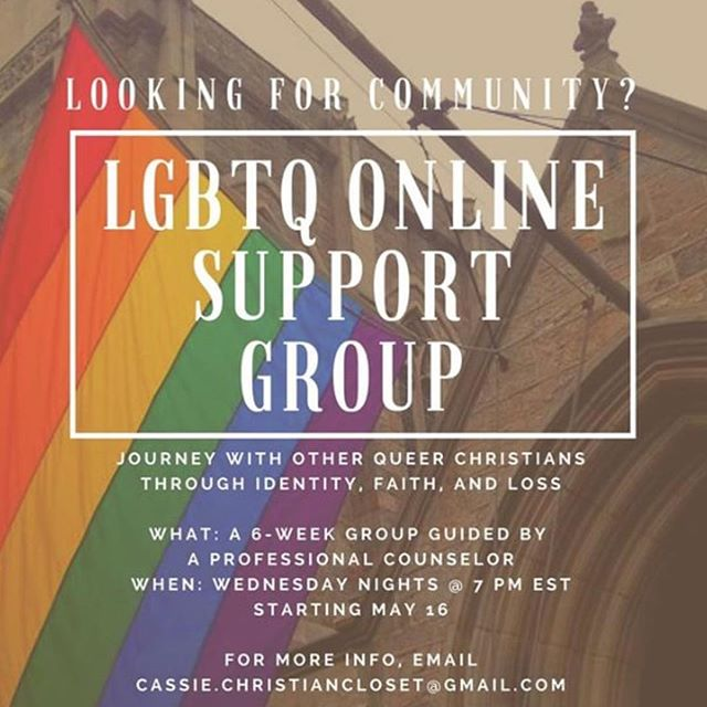 A great 6 week group guided by The Christian Closet. Sign up! #FaithfullyLGBT regrant from @thereformationproject