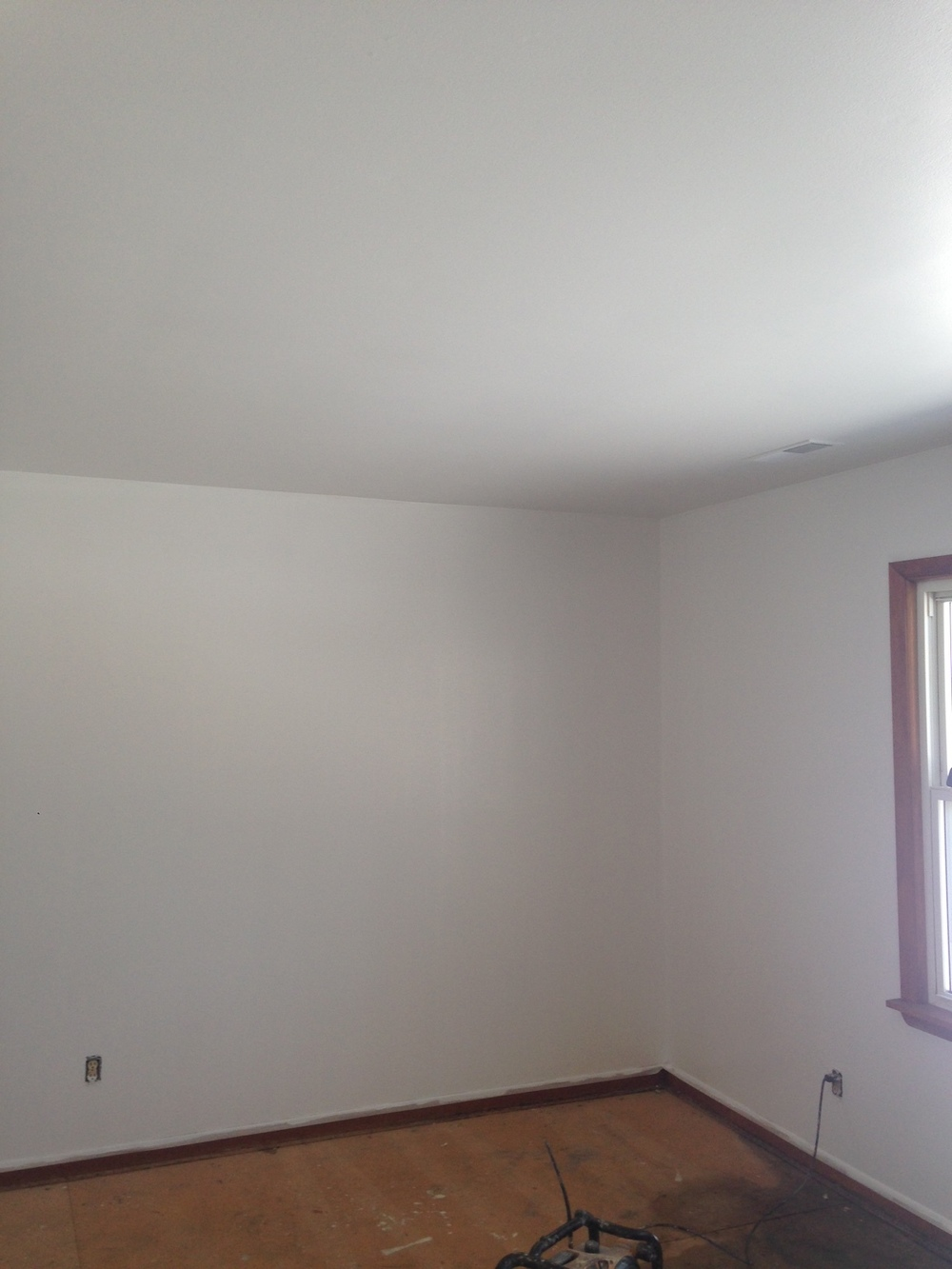 AFTER: PURE WHITE WALLS AND CEILING AND YOU CAN IMAGINE THE IMPROVEMENT IN THE SMELL AS WELL.