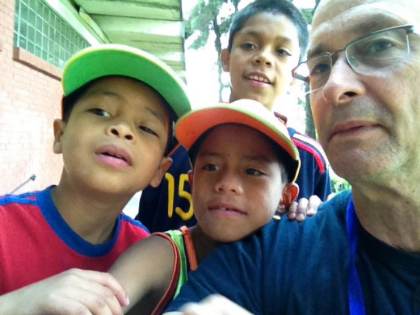 Young boys from a Guatemala Children's Home (Hogar Rafael Ayau) discover the selfie feature on my iPad!!