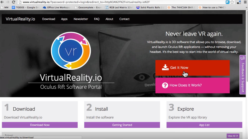 Simple Website - The website made access to a vast VR library a simple one-click process.