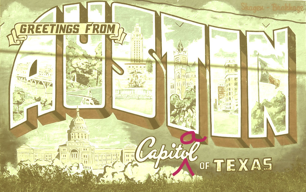 "Image based on a photo by Flicker user Philip Kromer;  CC licensed . No murals were harmed in the making of this image. ""Capitol"" refers to the building where legislators come together. ""Capital"" means the city that is the seat of government. Austin is the capital of Texas, and the capitol is located in the capital. But, NBD. I love you, mural. <3"