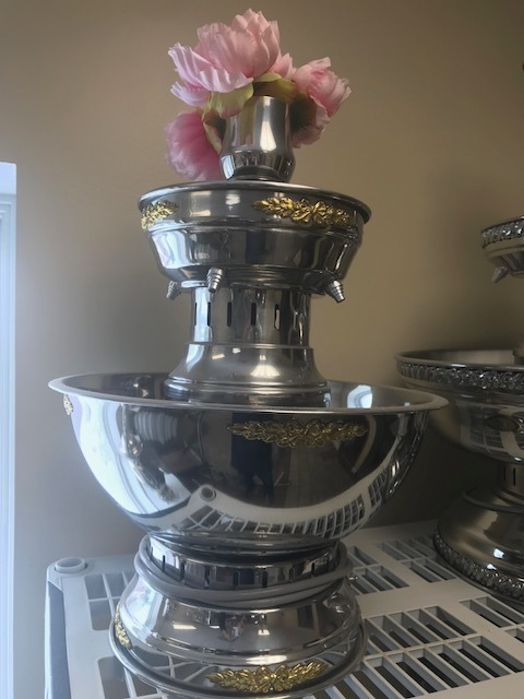 Silver Champagne Fountain