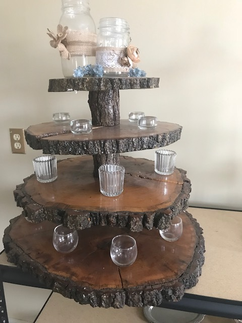Rustic Wood Cupcake Stand